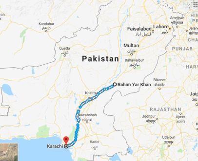 rahim yar khan to karachi