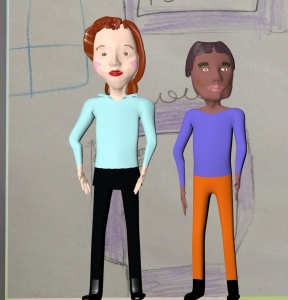 Blender animated people white girlfriend