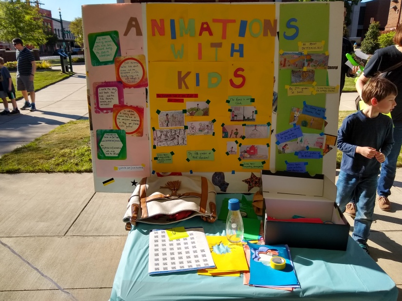 Animations with kids poster