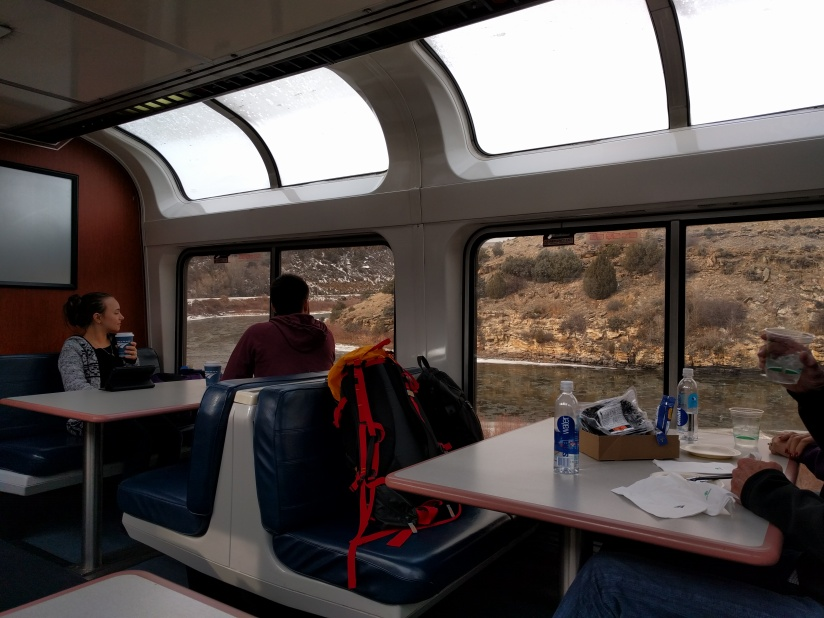 Amtrak observation car train